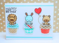 Mama Elephant Carnival Cupcakes Stamps At Play: Cupcake Cuties