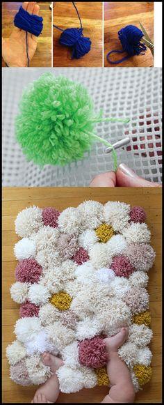 Készíts pom pom szőnyeget:)