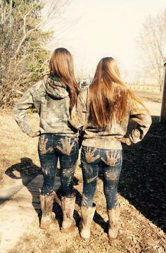 Mudding with your bestfriend! #mudding#mud#mudgirls