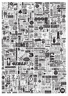 Typographic Spam Wallpaper    The secret to life, the universe, and everything is in there somewhere...if you stare at it long enough. I thought it would be good to paper the smallest room in the house.