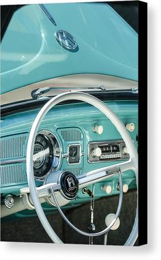 1962 Volkswagen Vw Beetle Cabriolet Steering Wheel Canvas Print by Jill Reger. All canvas prints are professionally printed, assembled, and shipped within 3 - 4 business days and delivered ready-to-hang on your wall. Choose from multiple print sizes, border colors, and canvas materials. Volkswagen Karmann Ghia, Vw Beetle Cabriolet, Vw Cabrio, Vw T1, Volkswagen Beetle Vintage, Vw Bugs, Carros Vintage, Van Vw, Kdf Wagen