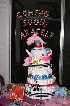 Dr. Seuss Diaper Cake