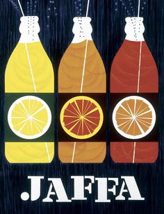retro Jaffa ad card Jaffa (Finnish orange lemonade/soft drink) ad card by Erik Bruun Old Poster, Poster Ads, Poster Prints, Vintage Illustration, Graphic Illustration, Retro Advertising, Vintage Advertisements, Advertising Campaign, Art Design