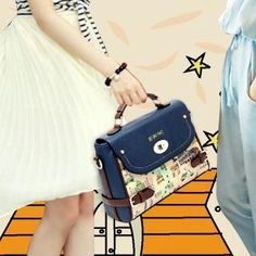 Twist-Lock Patterned Satchel from #YesStyle <3 BeiBaoBao YesStyle.com