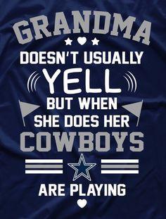 This will be me when I'm a grandma lol! Love my Boys! Dallas Cowboys Crafts, Dallas Cowboys Quotes, Dallas Cowboys Shirts, Dallas Cowboys Pictures, Cowboys 4, Dallas Cowboys Football, Nfl Football Teams, Football Memes, Football Art