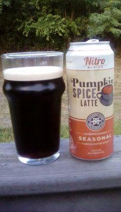 Nitro Pumpkin Spice Latte - Pumpkin Coffee Stout by Breckenridge Brewery - 5.5% ABV