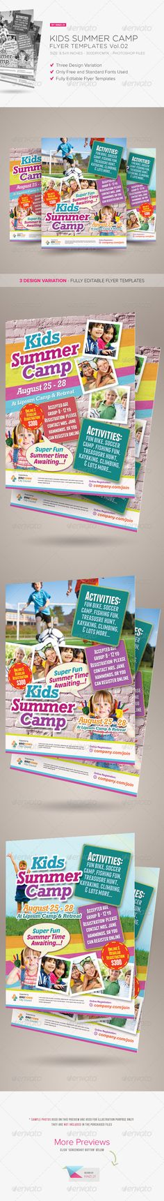 Kids Summer Camp Flyer Templates  Kid Flyer Template And Camps