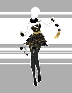::Outfit Adoptable by Scarlett-Knight on DeviantArt - .::Outfit Adoptable by Scarlett-Knight on DeviantArt - Dress Drawing, Drawing Clothes, Fashion Design Drawings, Fashion Sketches, Kleidung Design, Style Feminin, Illustration Mode, Illustration Fashion, Anime Dress