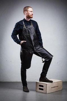 Leather & Canavs Split Leg Apron