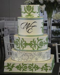 wedding cakes purple green white | Wedding Cakes Pictures