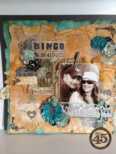 A beautiful Bohemian Bazaar Fall layout by Denise Johnson! It even has a tutorial #graphic45 #layouts #scrapbooking