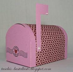 Hallo Ihr Lieben, der Samstag ist da ... heute möchten wir Euch gern einen Briefkasten als Geschenkverpackung zeigen ... z. B. zum Valentins...