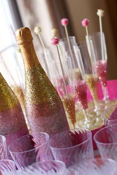 Pink, Gold, Leopard, Glitter Baby Shower Party Ideas | Photo 2 of 6 | Catch My Party