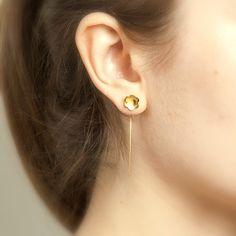 {Gold Sexy Back Bloom Earrings} by Bombom