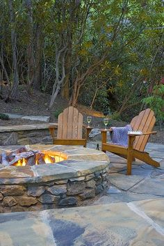 Fire Pit & flagstone for the lower 40 in front of sleeping shed