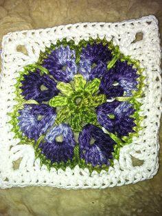 Beautiful with variegated yarn.  Ravelry: Silberfrau's African Flower