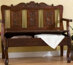 Mexican Hacienda Spanish Colonial Revival Furniture Wood Storage Entry Bench New | eBay