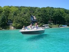 Went there with our friends and it was gorgeous!  Torch Lake - so clear, the boat looks like it's floating on air!