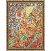 Cross Stitch Kit  Heirloom Lily Fairy by CrossStitchKitsOnly, $30.00