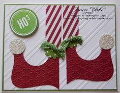 Janice Urke, Stamping With Style. Elf Card.