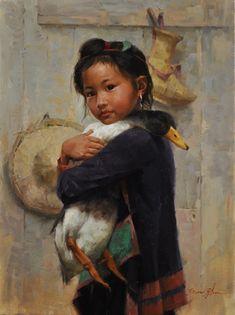 image of Jie Wei Zhou art Portraits, Portrait Art, China Art, Mural Art, People Art, Figure Painting, Figurative Art, Cat Art, Painting Inspiration