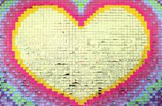 Post-it valentine messages