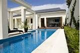 the color of the pool (white)