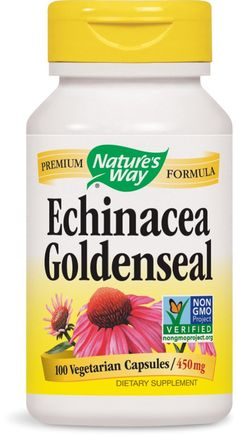 Nature's Way Echinacea and Goldenseal, 100 Capsules * Find out more details by clicking the image : Herbal Supplements