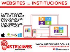 Ofrecemos asesoramiento profesional para el desarrollo de páginas web para instituciones que quieran ofrecer sus servicios a través de internet.  + info: http://www.artdigiweb.com.ar