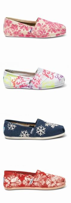 Grey Printed Toms Shoes - Daisy