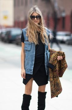 V is for...Denim VEST. Another one of my favourites, the denim vest adds just that little bit of edginess to every outfit. #denimdaze #boohoo