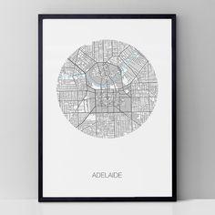 Adelaide round print | hardtofind.
