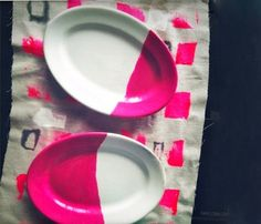 Dipped Oval Plates