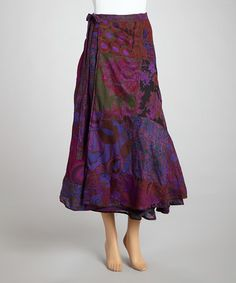 Take a look at this Purple Patchwork Reversible Wrap Skirt by The OM Company on #zulily today! $24 !!