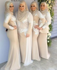 Reposting this photo of the  beautiful sisters Safa Sarah Marwa and Jasmine in @ziancouture after @instagram deleted it yesterday apparently it doesn't match Instgram's guidelines  seriously?!! Beeing modest it doesn't match but nudity photos it does  Makeup by @makeupby.nadene  Hijab styling  by @the_haya_atelier  Flowers by @minasflorals…