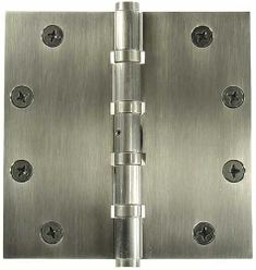 Heavy Duty 5 inch x 5 inch Mortise Hinges, four sleeved ball bearing, non-ferrous, non-removable pin (slang term - NRP'd or Carriage House Garage Doors, Custom Garage Doors, Garage Door Styles, Wood Garage Doors, Carriage Doors, Custom Garages, House Doors, Heavy Duty Hinges, Custom Wood