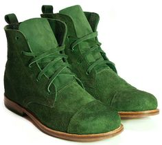 Women's Handmade Ankle Boots in Moss Suede Leather by MOOSHOOS, £80.00
