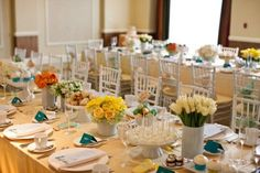 Cheerful, Elegant Baby Shower in blue, green, orange and yellow was created by Jeannie of Details Details via www.babyshowerideas4u.com #babyshowerideas4u.com
