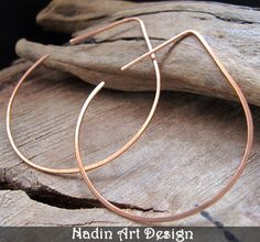Lotus shaped Hoop Earrings - Copper Ear Wires by Jewelry-Findings-Supplies on ArtFire I like this shape.