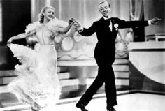 This is a shot from the Film Swing Time starting Ginger Rogers and Fred Aistaire.  This 1936 musical is full of romance and dancing.  It is beautiful.