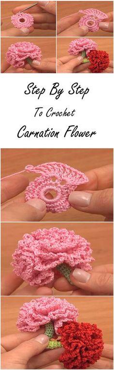 Crochet Lavender Flower Free Pattern- #Crochet; 3D Flower Bouquet ...