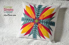 Patchworková šablona Streaks, Corner (odšité rohy), Clipper (letící husy) #patchwork #quilt #lizadecor #pattern #vzory #šablony #tutorial #návod