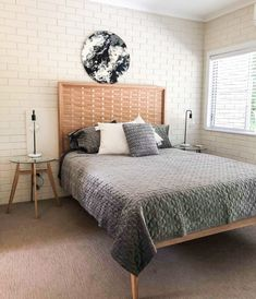 Tasmanian Oak Woven Bed Head, Queen Bed, Australian Made Modern Furniture, Made in Noosa, Australia