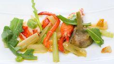 Receta de Bogavante con verduras de invierno