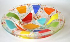 make more glass bowls   This bowl is from Little hand studios on Etsy.