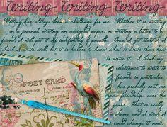 Writing Art Journal Page