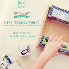 Tiny Peasant 5 Day Playroom Remedy E-Course | http://tinypeasant.com/