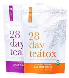 28 Day and Night Detox Tea – Teatox Tea Bags) – Organic All Natural Antioxidant Weight Loss Tea, Herbal Body Detox Cleanse, with Refreshing Taste – Vida Tea – Detox Natural Detox Cleanse, Body Detox Cleanse, Natural Detox Drinks, Juice Cleanse, Night Detox, 14 Day Detox, Weight Loss Tea, Losing Weight, Detox Tee
