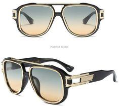 ced58f290 LE Oversized Shades Glasses Retro Italy Design Eyewear Steampunk Driving  Goggles | eBay