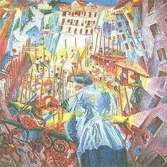 """Umberto Boccioni: La strada entra nella casa"""", 1911."""